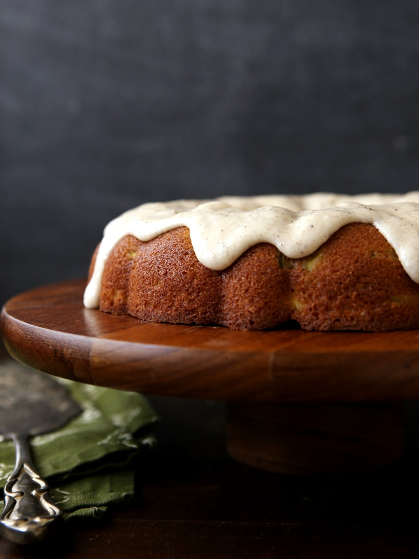 Spiced Zucchini Pear Cake with Brown Butter Glaze ...