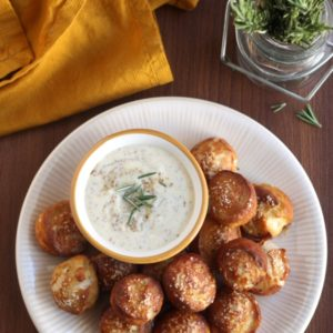 Rosemary Pretzel Bites with Honey Mustard Dipping Sauce ...