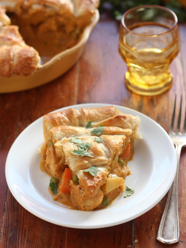 Coconut Curry Chicken Pot Pie - Completely Delicious