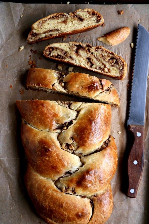 Cinnamon Walnut Stuffed Challah Bread Completely Delicious