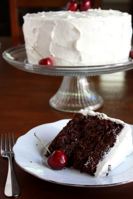 Cherry Chocolate Cake With Cherry Vanilla Buttercream