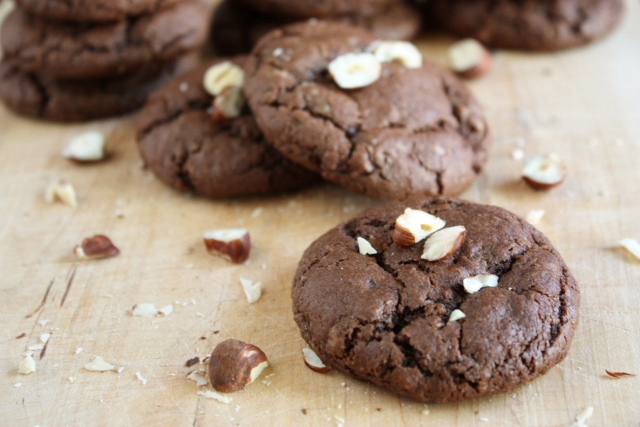 Chocolate Hazelnut Cookies - Completely Delicious