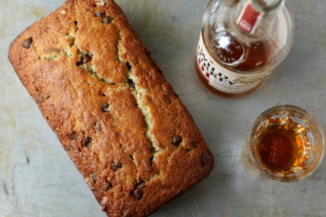 Chocolate Bourbon-Spiked Banana Bread - Completely Delicious