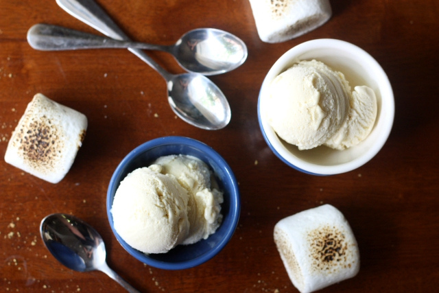 Toasted Marshmallow Ice Cream - Completely Delicious
