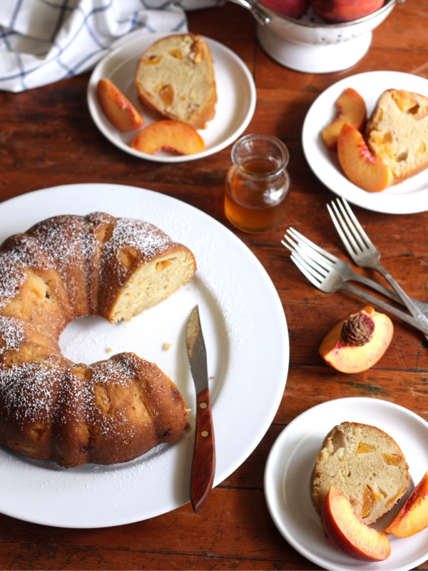 Peach Maple Bundt Cake - Completely Delicious