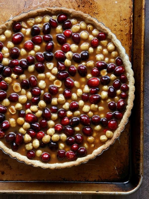 Cranberry, Caramel and Hazelnut Tart | completelydelicious.com