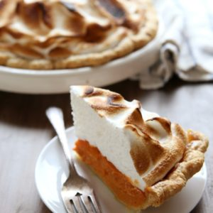 Sweet Potato Pie with Toasted Marshmallow Meringue | completelydelicious.com