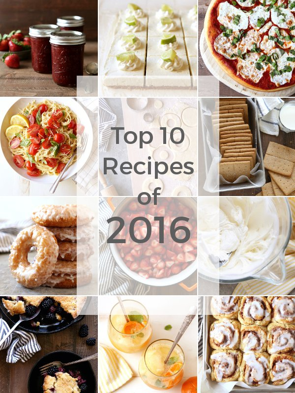 Top 10 Recipes of 2016 from completelydelicious.com