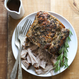 Slow Cooker Rosemary Balsamic Pork Roast | completelydelicious.com