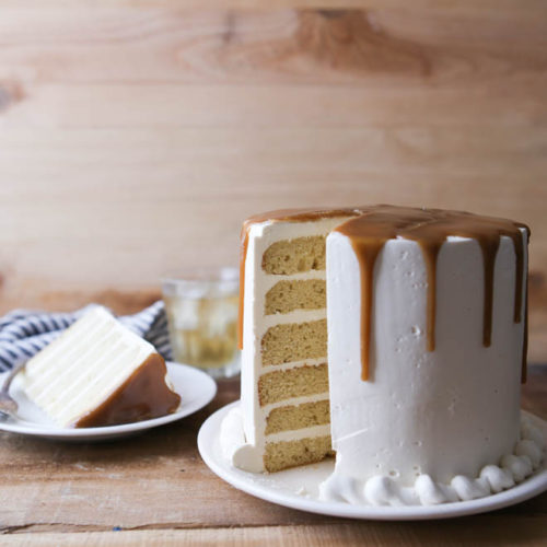 Bourbon Butterscotch Cake from completelydelicious.com