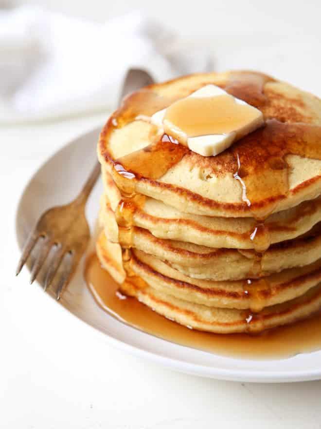 Non-Dairy Hemp Pancakes | completelydelicious.com