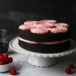 Red Wine Chocolate Cake with Raspberry Buttercream | completelydelicious.com