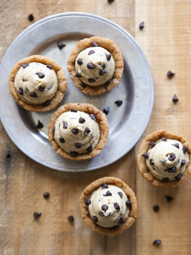 Chocolate Chip Cookie Cups With Cookie Dough Frosting