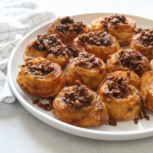 Easy Puff Pastry Sticky Buns | completelydelicious.com