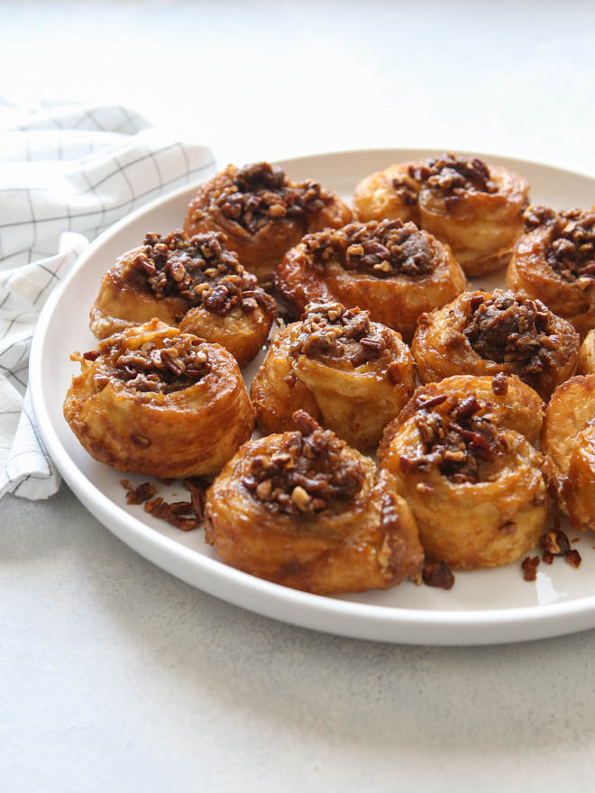 Easy Puff Pastry Sticky Buns - Completely Delicious