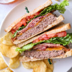 BLT Cheeseburgers combine two favorites in one!