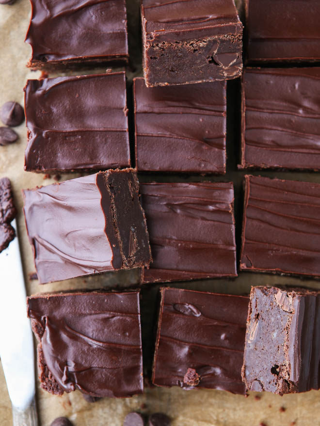 Super decadent triple fudge brownies