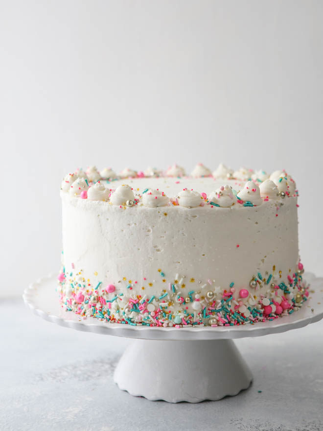 How To Frost A  Layer Round Cake