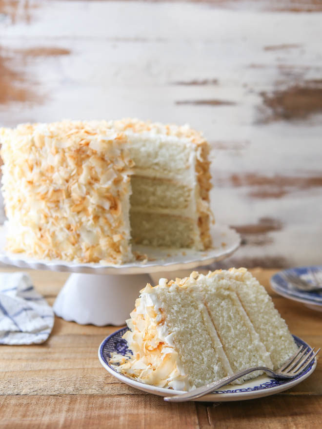 Southern Coconut Layer Cake - the BEST recipe! completelydelicious.com