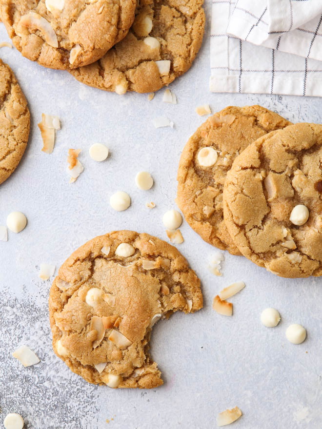 Toasted Coconut And Chocolate Chip Cookies