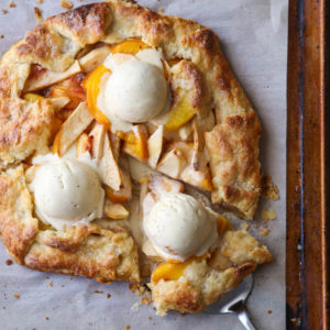 Peach Apple Galette completelydelicious.com