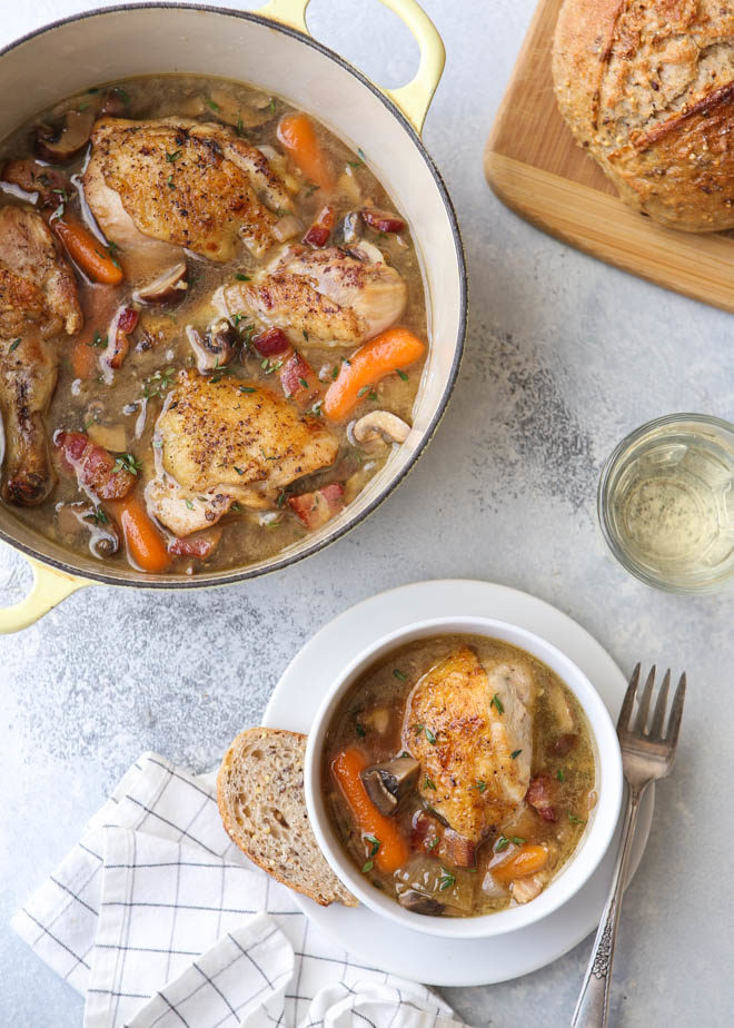 Coq au Chardonnay - the comforting french classic with a twist!