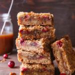 These caramel cranberry nut bars are a great alternative to pumpkin pie!