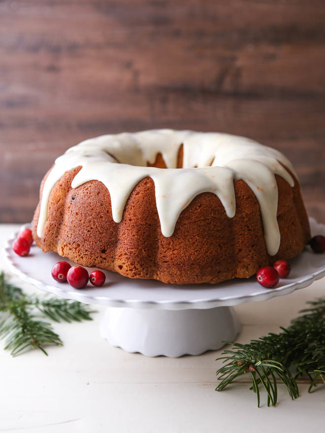 Cranberry Bundt Cake With Cream Cheese