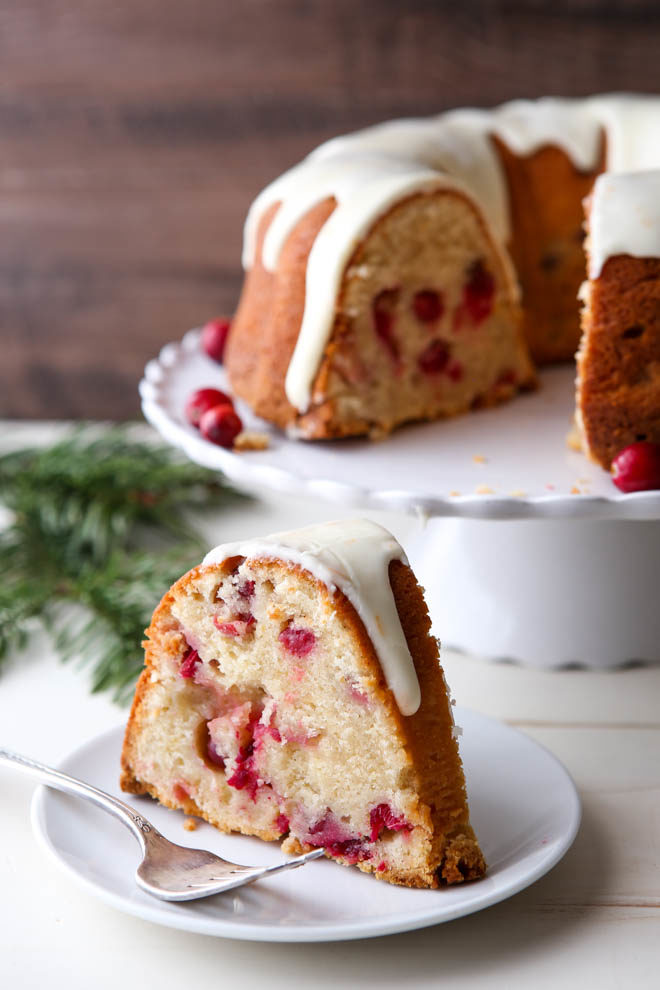 Cranberry Orange Cream Cheese Pound Cake