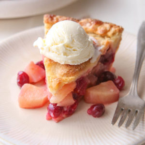 This cranberry pear pie is the perfect dessert for fall