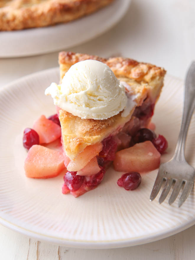 Cranberry Pear Pie - Completely Delicious