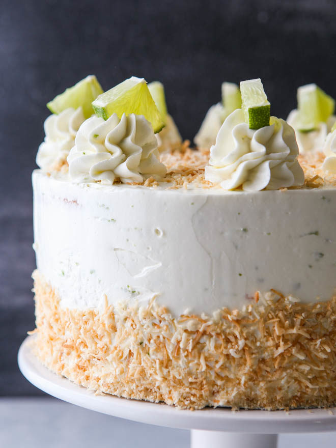 Coconut Lime Layer Cake from completelydelicious.com
