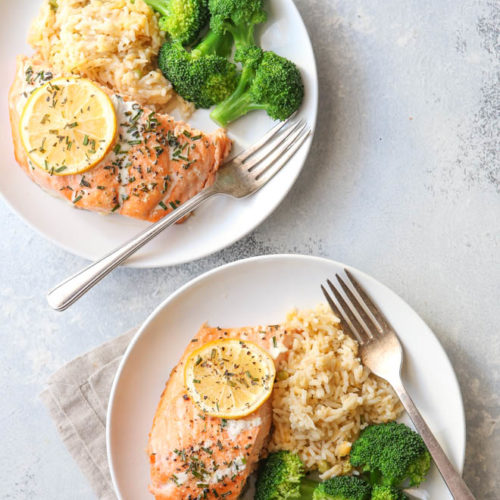 Just 5 ingredients needed for my favorite salmon recipe!