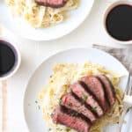 Steak Fettuccine Alfredo for two!