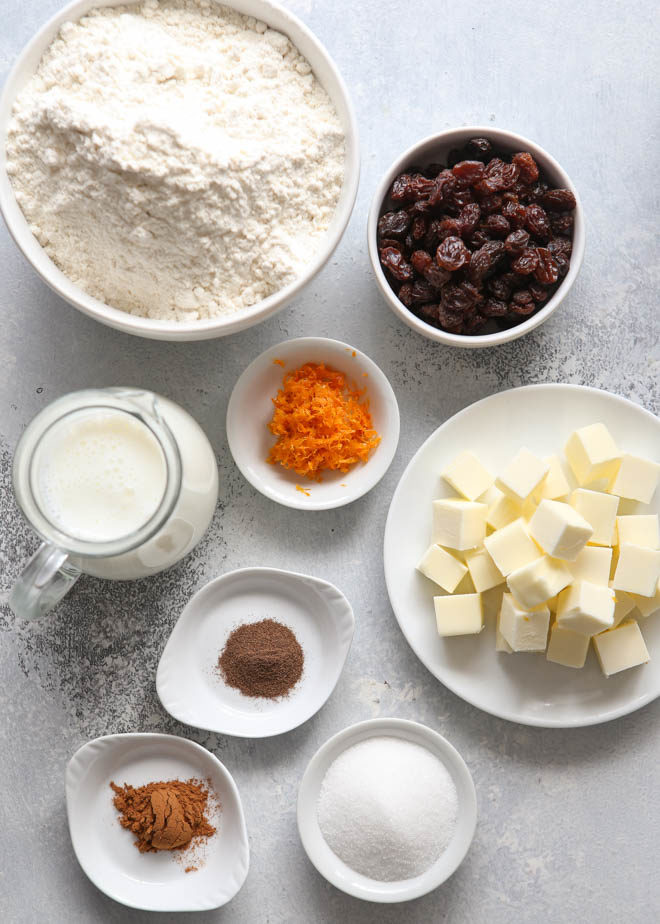 ingredients for hot cross biscuits