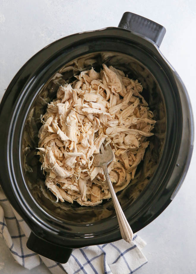 Making shredded chicken in the slow cooker