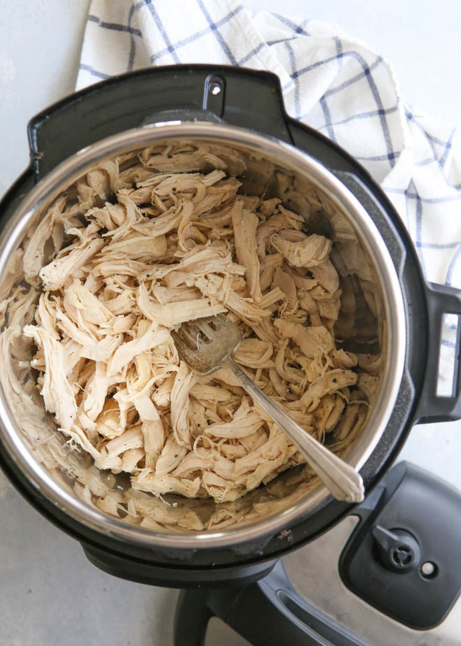 Making shredded chicken in the Instant Pot