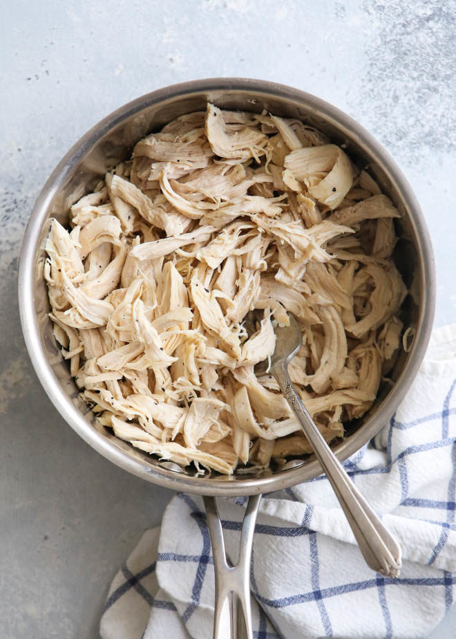 Make shredded chicken on the stovetop