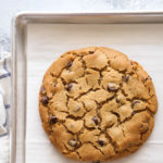 One giant peanut butter chocolate chip cookie... for one or more!