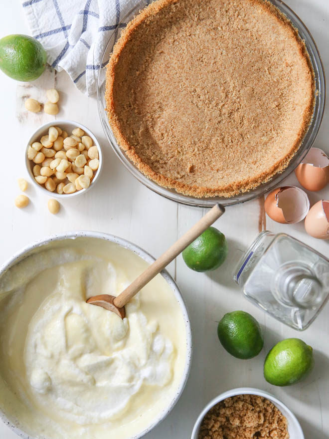 Tequila lime pie about to hit the oven