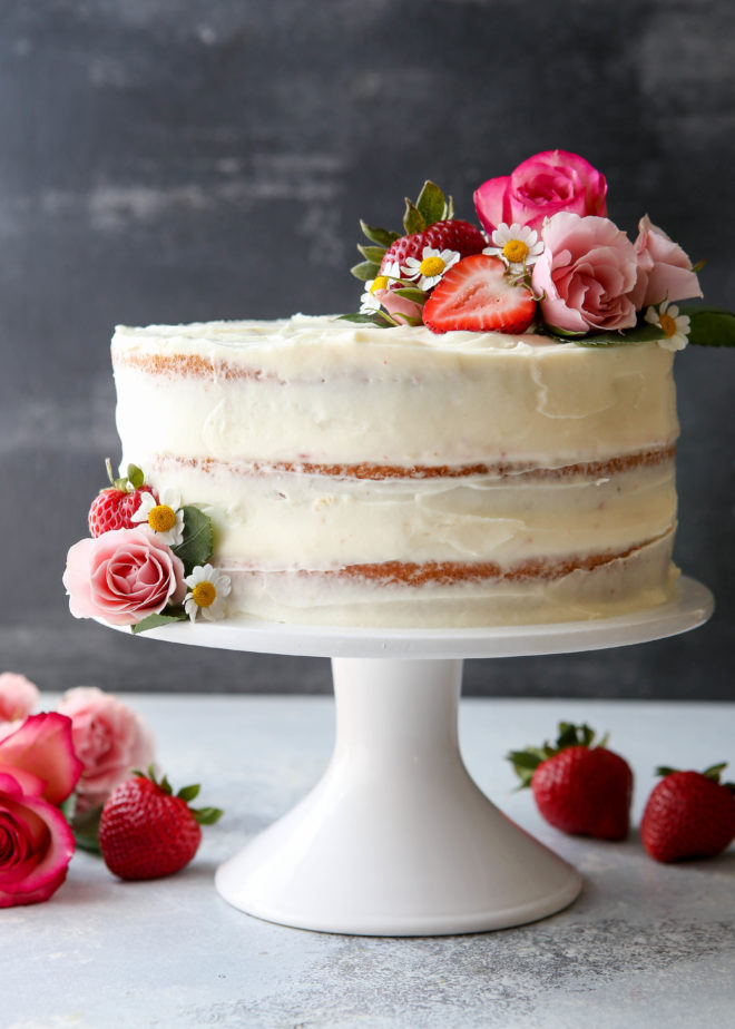 strawberry cake with cream cheese frosting strawberry layer cake completely delicious 7739
