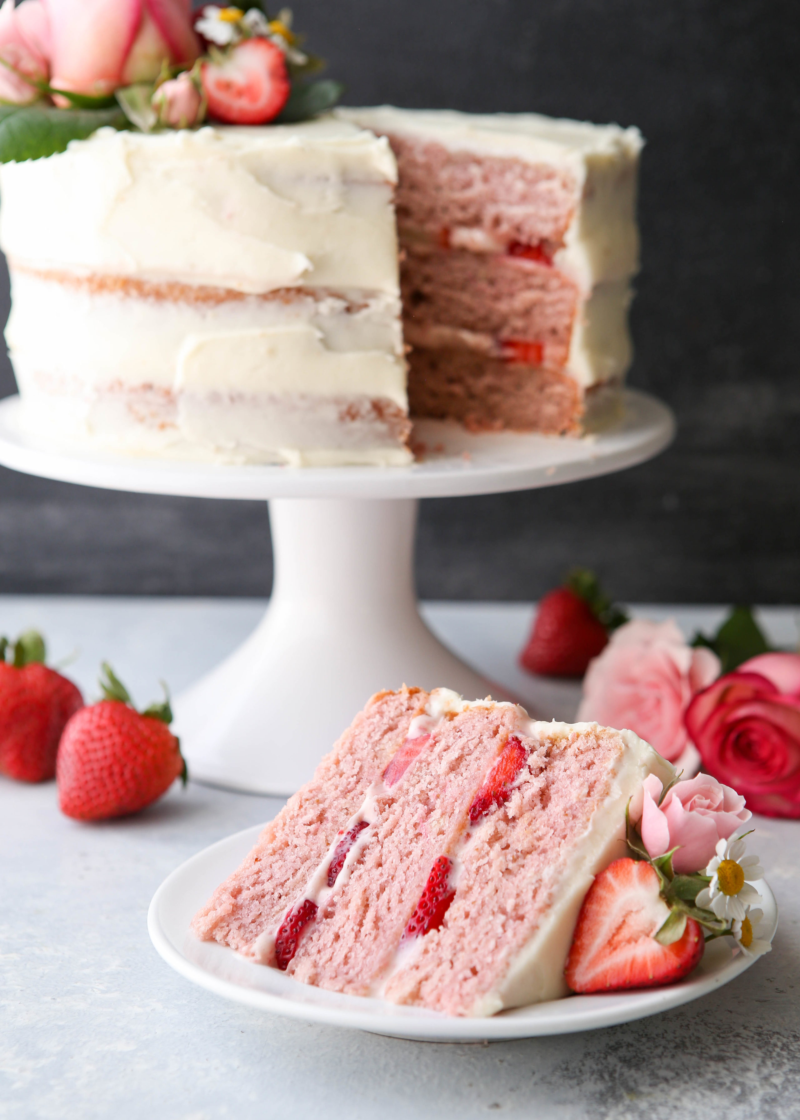 chocolate and vanilla cake strawberry layer cake completely delicious 2804