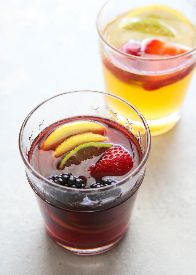 This simply summery sangria wine can be made with either red or white wine!