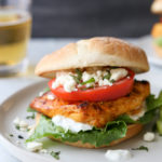 These chicken shawarma sandwiches with feta and tzatziki sauce is so full of flavor!