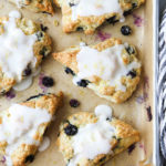 Soft and flavorful lemon bluberry scones