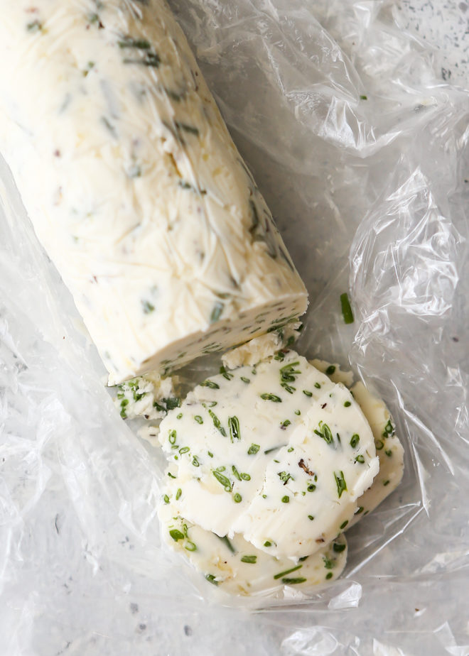 Chive compound butter