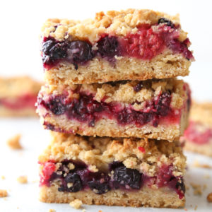 Mixed berry crumb bars are a summertime favorite!