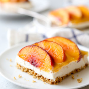 These peaches and cream delight squares are a delicious treat for a crowd!