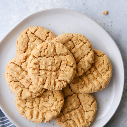 These flourless peanut butter cookies require just 4 ingredients!