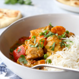 Making chicken coconut korma easier in the pressure cooker!